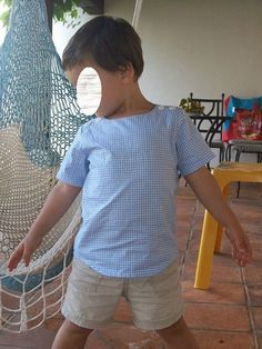 Oliver + S Sailboat Top in gingham for summer. So cute!