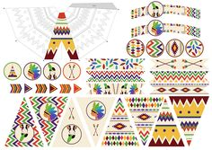 Printable indien par Minireyve : déco + atelier DIY construction de tipi ! Native American Baby, Native American Wedding, Native American Crafts, Indian Birthday Parties, Indian Party, Sweet Party, Cowboy Theme Party, Teepee Party, Wild West Party
