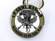 Military Army Rangers Lead the Way Custom ID Tags for dogs and cats--my dad would love this...if he had a dog