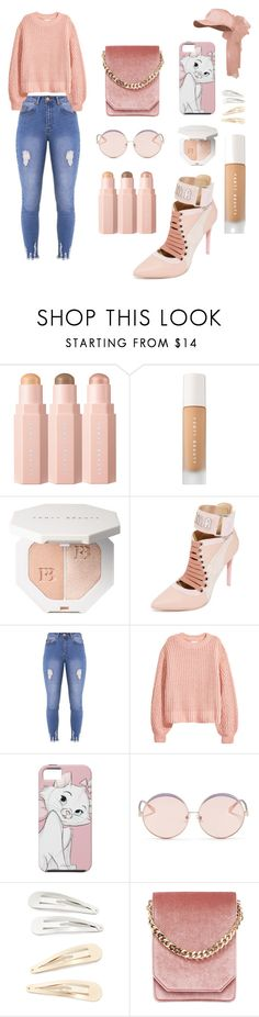 """Simply Blushing"" by midnightjoy ❤ liked on Polyvore featuring Puma, Lipsy, H&M, N°21, Kitsch and Cafuné"
