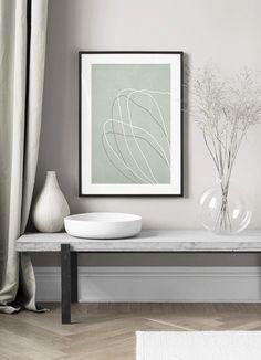 Floral Lines Poster Interior Styling, Interior Decorating, Interior Design, Room Inspiration, Design Inspiration, Cute House, Modern Art Prints, Scandinavian Design, Decoration