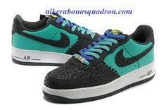 sports shoes 8e528 6cd67 Nike Air Force 1 LE Godzilla Pack Black Atomic Teal 488298 304 Cheap  Sneakers, Nike