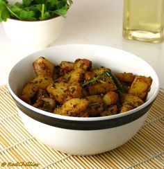 spiced dry potato curry