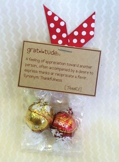 volunteer appreciation gift with lindt truffle Staff Gifts, Volunteer Gifts, Teacher Gifts, Valentine Gifts For Teachers, Teacher Treats, Client Gifts, Employee Appreciation Gifts, Teacher Appreciation Week, Employee Gifts