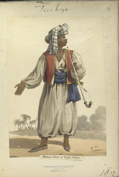 Military Chief of Upper Egypt. The Vinkhuijzen collection of military uniforms / Turkey, 1812. See McLean's Turkish Army of 1810-1815.