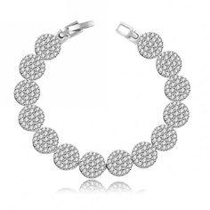2016 New Fashion Jewelry Bracelet Cubic Zirconia Bracelets for Women Copper Bracelets Bangles QSP0007-B #Affiliate