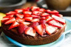 chocolate + berries + cake = bliss! #vegan #dessert