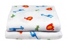 Muslin Swaddling Blanket pack of 2, 120x120cm - large size