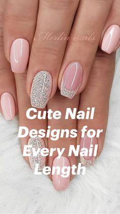Classy Acrylic Nails, Blue Acrylic Nails, Summer Acrylic Nails, Classy Nails, Stylish Nails, Elegant Nails, Cute Pink Nails, Cute Gel Nails, Cute Nail Art
