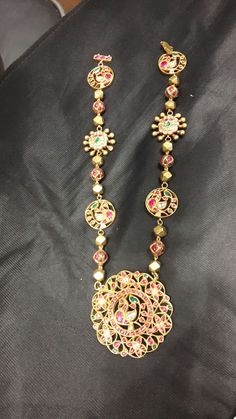 Peacock Long Set with Gold Balls Bridal Jewelry, Beaded Jewelry, Emerald Jewelry, Gold Jewelry, India Jewelry, Gold Jewellery Design, Antique Jewelry, Fashion Jewelry, Amazon