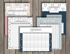 Budget Planner Printable Set Personlized Monthly Budget