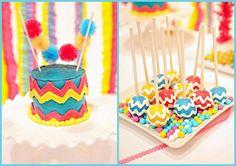 Chevron Cake Pops.!