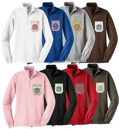 Monogrammed 1/4 zip Sweatshirt..... with a monogram of course! They have them on etsy too!