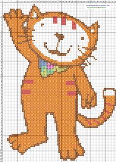 Gatita Poopy Cat - Cross Stitch Punto de cruz 14 x 19.7 CM 7 colores DMC.jpg (JPEG-afbeelding, 1107×1541 pixels)