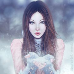'December'  Wintery portrait by Stephanie Shimerdla