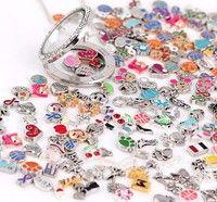 Wish   Wholesale 60pcs Mix Charms lots Floating for Living Memory Locket Bracelets BM-001