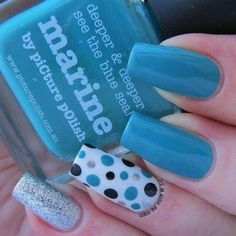 piCture pOlish - Marine dotticure - - piCture pOlish – Marine dotticure Hair and Beauty piCture pOlish – Marine dotticure Dot Nail Designs, Nail Art Designs Videos, Colorful Nail Designs, Beautiful Nail Designs, Nail Polish Designs, Gel Polish, Pretty Nail Art, Cute Nail Art, Nail Art Diy