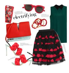 """Red & Green"" by stacey-lynne on Polyvore featuring Marni, Jil Sander, Dolce&Gabbana, Marco de Vincenzo, Alice + Olivia, Yves Saint Laurent and NEST Jewelry"