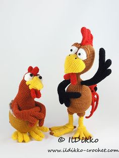 Package: Poultry Paul, Paula and Chuck the Chick amigurumi crochet pattern by IlDikko