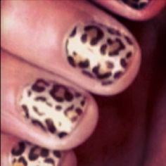 leopard nails! these look better than when  I do it