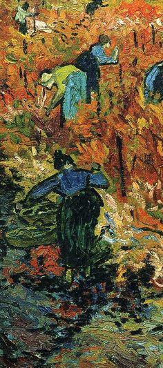 Vincent can Gigh, The red vineyard, (detail)