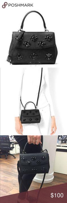 Michael Kors Ava Saffiano Leather Jewel Crystal Brand new, never been used! Michael Kors Bags Crossbody Bags