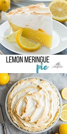 This Easy Lemon Meringue Pie Is Cool, Creamy And Tangy - The Perfect Dessert For Any Occasion Go Totally Homemade Or Take Some Shortcuts If You're Out Of Time Lemon Pie Easter Dessert Spring Dessert Mini Lemon Meringue Pies, Lemon Meringue Cheesecake, Meringue Cake, Potluck Desserts, Spring Desserts, Dessert Recipes, Easter Desserts, Easter Recipes, Appetizer Dessert