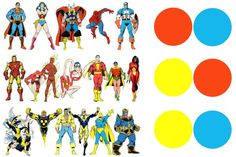 This is an excellent article explaining why the most popular heroes utilize the primary colors. The majority of them have blue and red, with an accent of gold. This is a triadic color scheme, which is usually very vibrant and striking. Just like the heroes that dawn the colors.