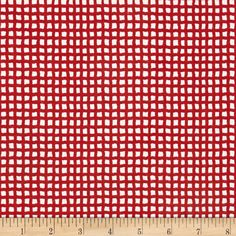 Alpine Flannel Gingham Medium Red from @fabricdotcom  From Alpine Fabrics, this double napped (brushed on both sides) flannel is perfect for quilting, apparel and home décor accents.