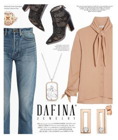 """Dafina jewery"" by yexyka ❤ liked on Polyvore featuring Yves Saint Laurent, Balenciaga and dafinajewelry"