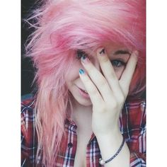 † FUCK NORMALITY † ❤ liked on Polyvore featuring hair, pictures, girls, emo and emo girls
