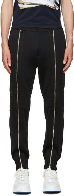 JUUN.J Black Zippered Trousers. #juun.j #cloth #trousers
