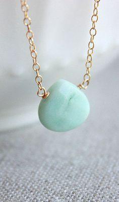 Gold Amazonite Necklace