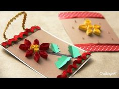 Tarjeta Filigrana - Adorno para Navidad //  Quilling