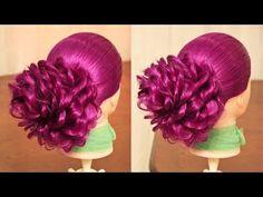 Вечерняя причёска - с валиком из двойных жгутов - YouTube