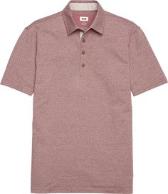 Joseph Abboud Tailored Fit Floral Pattern Polo CLEARANCE