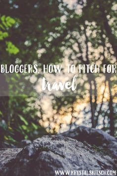 Blogging is full of great opportunities including travel, but do you know how to pitch for travel? Here's a few things to consider when pitching.