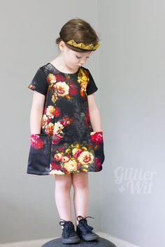 Straight Grain's newest pattern, The Ishi Dress, modified to accommodate a sturdy knit fabric.