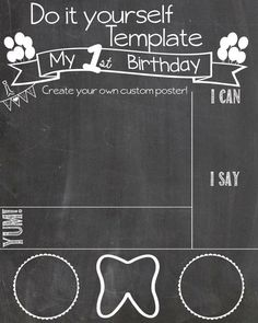 image result for birthday clip art chalk board free