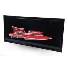 """CaptJimsCargo - Arno Ferrari Hydroplane Half Hull Model 18.5"""" Wooden Speed Boat, (http://www.captjimscargo.com/nautical-wall-decor/other/arno-ferrari-hydroplane-half-hull-model-18-5-wooden-speed-boat/) It's a fabulous model that will be a conversation piece for any room or office. Think executive gift!"""