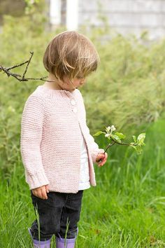 Lottie Cardigan knitting pattern by Carrie Bostick Hoge - Available at LoveKnitting