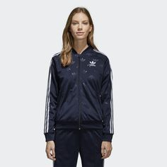 sale retailer 463a0 6c269 This women s jacket reappears with a modern interpretation of the  celebrated archival style. The sporty tricot track jacket comes in a slim  fit with a ...