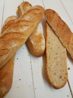 Recept z kvásku: Francúzske bagety - www. Bread, Baking, Food, Bakken, Breads, Meals, Backen, Yemek, Postres