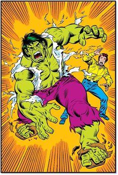 Marvel Comics Art, Old Comics, Marvel Avengers, Marvel Heroes, Sal Buscema, Hulk Art, Hulk Smash, Classic Cartoons, Comic Covers
