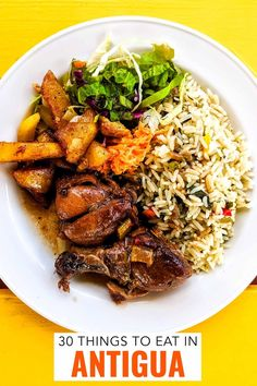 Food and drink options for a holiday on Antigua island Caribbean. This guide includes where to eat it and how to find vegan and vegetarian food. Antigua and Barbuda. Antigua Caribbean, Carribean Food, Caribbean Recipes, Les Bahamas, Vegetarian Recipes, Cooking Recipes, Kids Nutrition, Island Food, Exotic Food