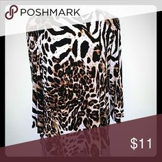 Animal print liquid knit Awesome print on. Not quite tunic length but nice coverage over hip area. Susan Graver Tops Tunics