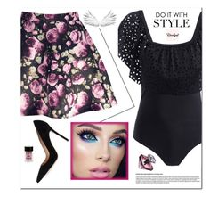 """""""Fashionable in May/Jun 56"""" by spolyvore1 ❤ liked on Polyvore featuring Gianvito Rossi, Lancôme and Charlotte Russe"""