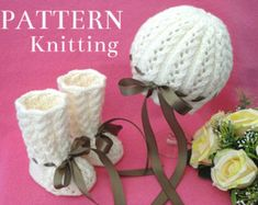 Crochet P A T T E R N tejer botines bebé sombrero por Solnishko43