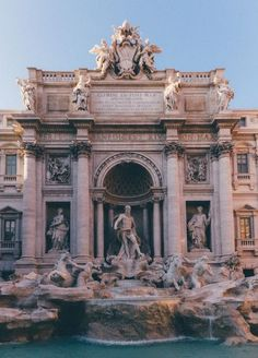Trevi Fountain, Rome (by Sergey Mkrtchyan) (All things Europe) Baroque Architecture, Beautiful Architecture, Ancient Architecture, City Aesthetic, Travel Aesthetic, Aesthetic Backgrounds, Aesthetic Wallpapers, Trevi Fountain Rome, The Places Youll Go