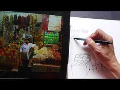 Pen & Ink Sketch Collage (Beginner Tutorial)